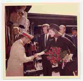 John F. Kennedy & Jackie Kennedy Greet Ethiopian