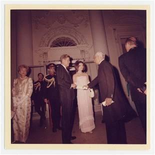 John F. Kennedy & Jackie Kennedy Greet Indian