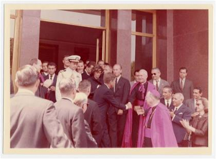 John F. Kennedy Meets with R.C. Clergy on his Last Trip