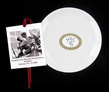 Kennedy Owned Vintage Stoneware Demitasse Saucer