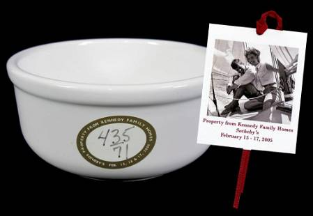 Kennedy Owned Vintage Stoneware Cereal Bowl