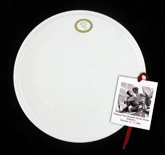 Kennedy Owned Vintage Stoneware Dinner Plate