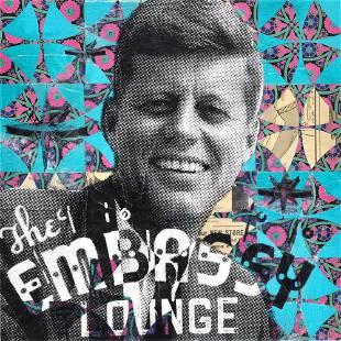 """JFK's Embassy Lounge"" Original Mixed Media Painting by"