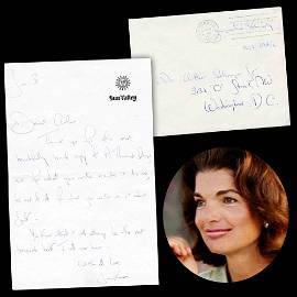 Jackie Kennedy Remarkable ALS to Arthur Schlesinger,