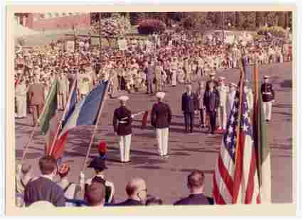 JFK at NATO Headquarters Vintage Photo from Cecil