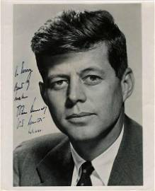 Young John Kennedy Boldly Signs and Inscribes a
