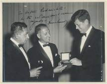 JFK Superb and Boldly Signed Photo of Him Receiving an