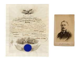 Chester Arthur Naval Commission and Cabinet Photo - the