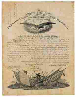 Chester A Arthur Signed Military Commission,