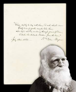 William Cullen Bryant Lovely AQS from Consumption