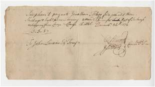 Oliver Ellsworth Signed DS from 1776
