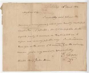 Declaration Signer Elbridge Gerry ALS