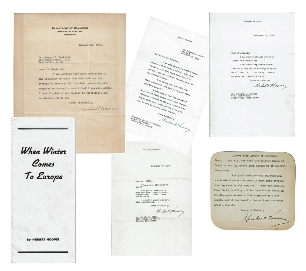 Herbert Hoover Archive of Signed Items, Ex-Forbes