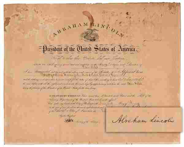 Abraham Lincoln War-Dated DS, Great Signature!