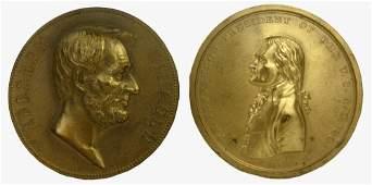 Abraham Lincoln & Thomas Jefferson Commemorative Bronze