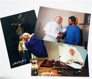 Pope John Paul Signed by his Official Photographer