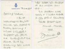 Princess Diana ALS with Lovely Bold Signature