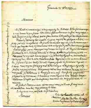 Jacques Mallet du Pan Voltaires friend ALS to Swiss