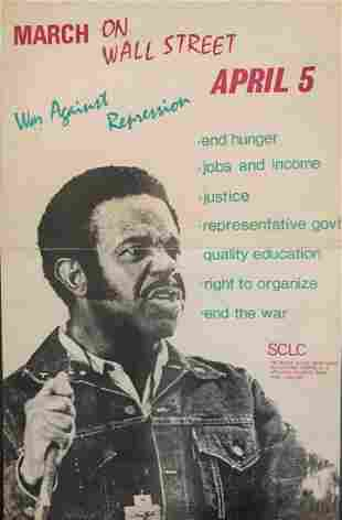 Dr. Abernathy Civil Rights March 1971 On Wall Street