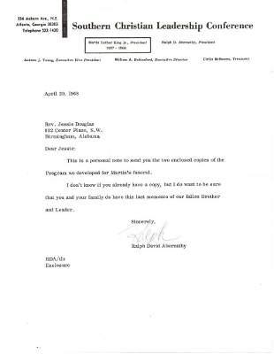 "Abernathy on M.L. King's Assassination ""our Fallen"