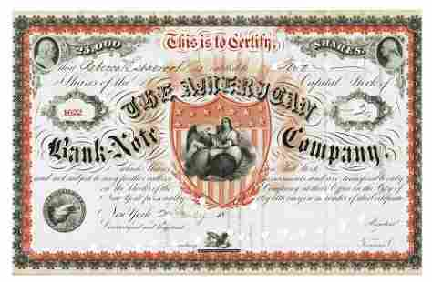 American Banknote Company Vintage Stock Certificate