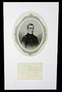 Robert Anderson Autograph from Ft. Sumter Three Months