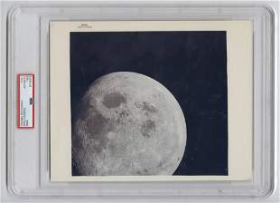 Official Red Number NASA Photo of the Apollo 8 Moon