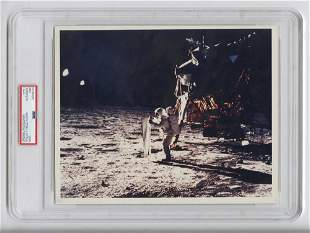 Official NASA Red Number Photo of Buzz Aldrin During