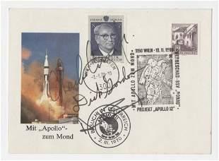 Apollo 12 Crew Signed Austrian Cover, Conrad, Gordon