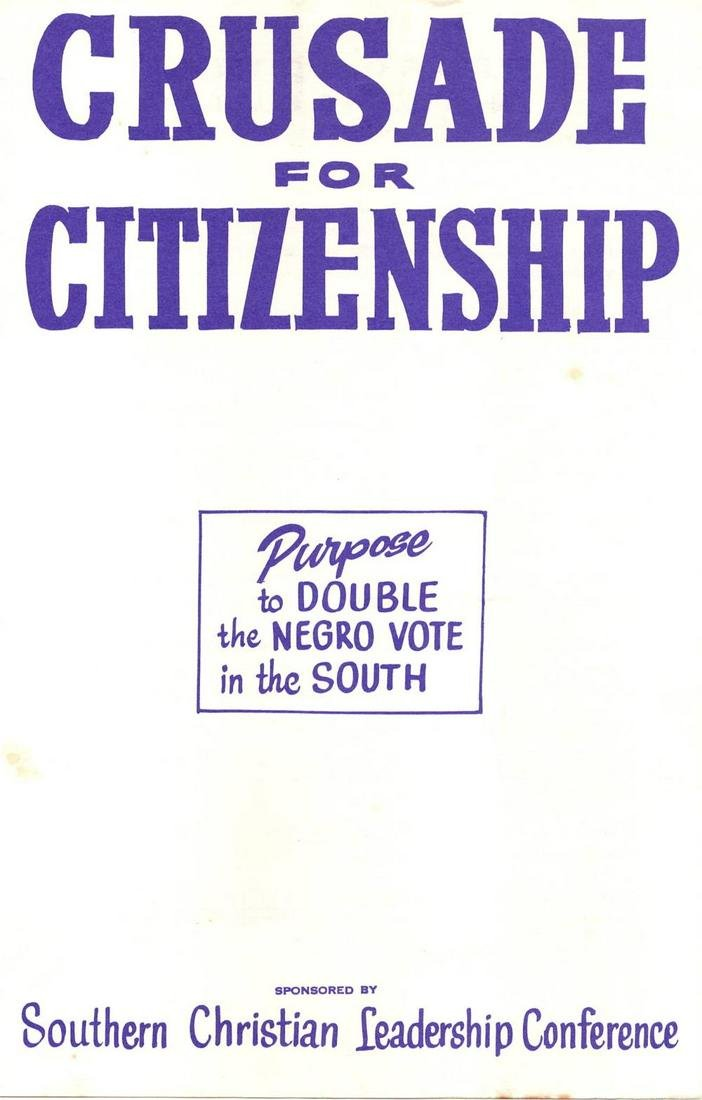 "S.C.L.C. ""Crusade for Citizenship"" Negro Vote in the"