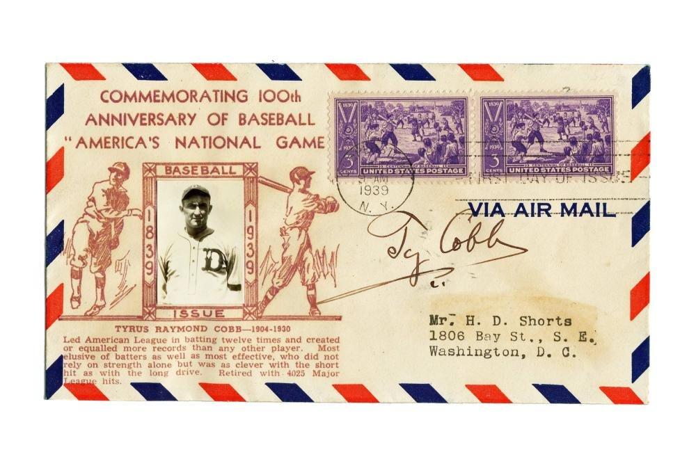 Ty Cobb 100th Anniversary of Baseball Photo Cover