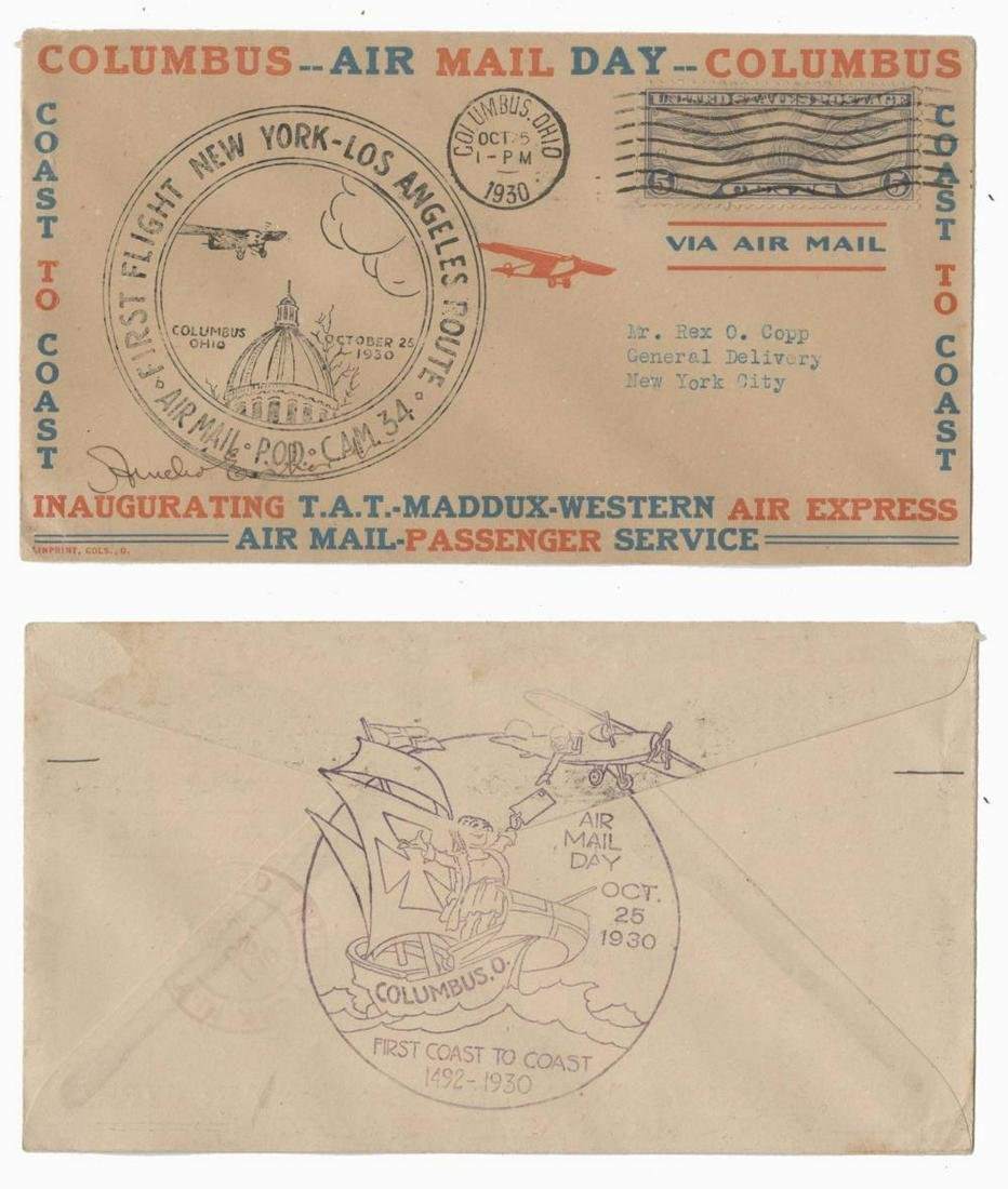 Amelia Earhart Signed Air Mail Stamp Cover