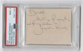 Superb Jacqueline Kennedy Signature and Inscription