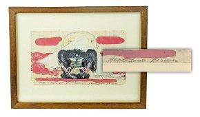 """Jack Kerouac Original Oil & Pencil Drawing, """"The Vision"""
