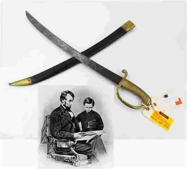Tad Lincoln's Navy Sword, Requested Just Days