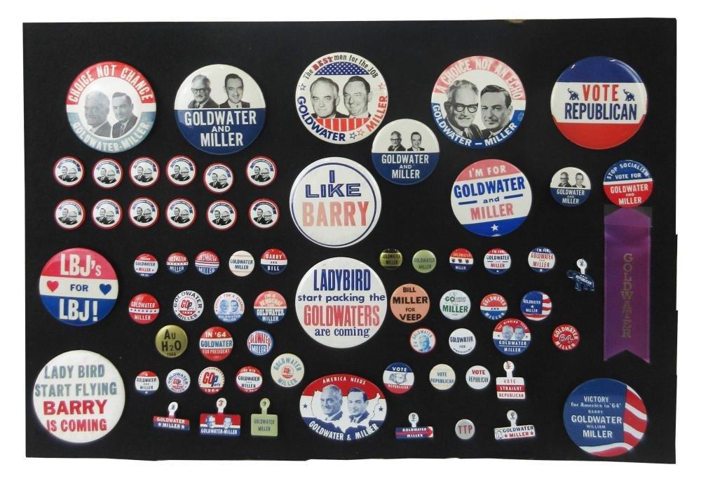 Barry Goldwater & Anti-LBJ Campaign Pinbacks &
