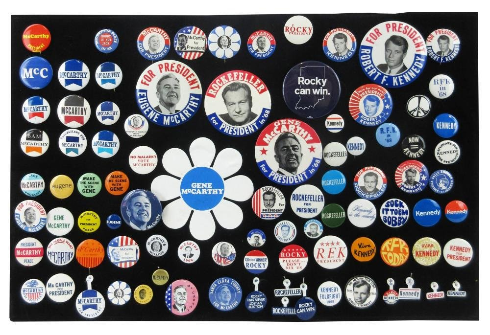1968 Presidential Election Campaign Pinbacks &