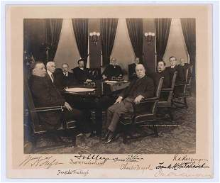 William H Taft Cabinet Members 9 Signed Photograph