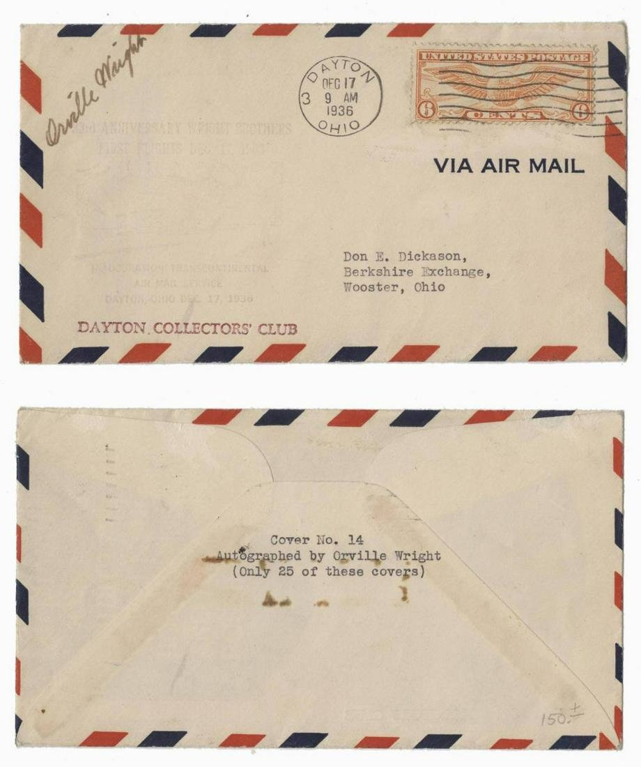 Orville Wright Signed Air Mail Stamp Cover, 1 of 25
