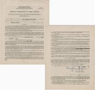 Humphrey Bogart Signed Contract Covering His