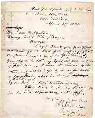 Gen. Burnside Thanks Naval Commander for His Aid in