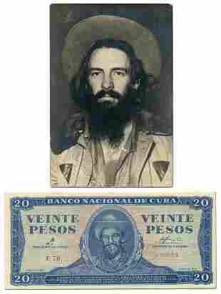 Camilo Cienfuegos, Rare Original Photograph with Bonus