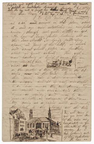 Montgomery Meigs ALS With Original Drawings!