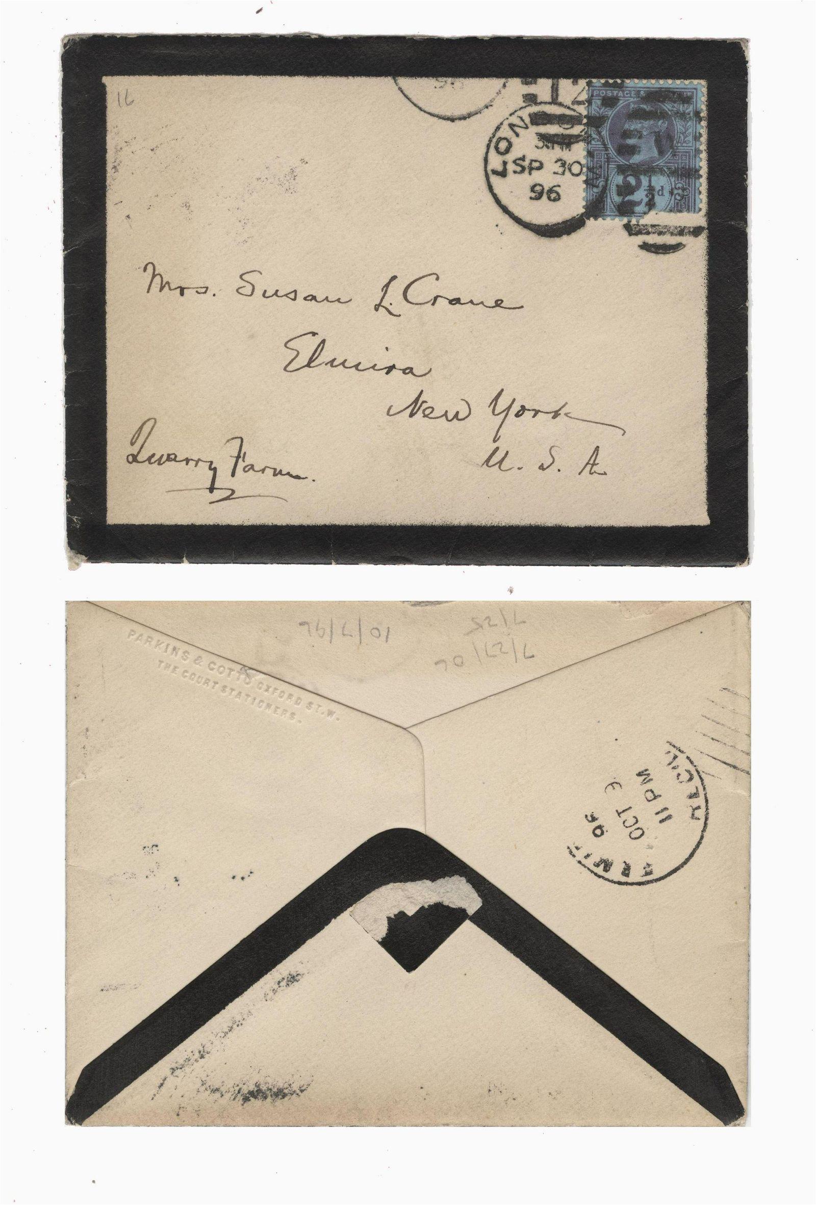 Mark Twain Autographed Envelope