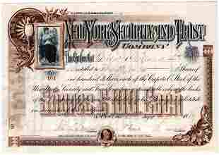 Lovely Stock Certificate Issued to Grover Cleveland and
