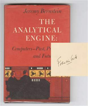 """Francis Crick Signed """"The Analytical Engine"""""""