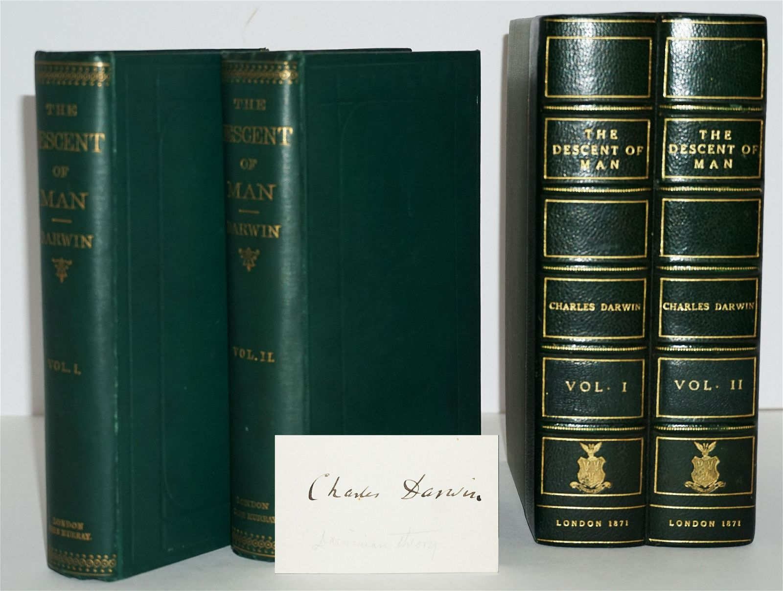 """Charles Darwin Signed """"The Descent of Man"""", First Issue"""