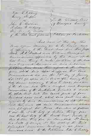 S. C. Justice David Davis's Decree in Land
