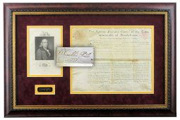 Benjamin Franklin Signed Document, Gorgeously Presented