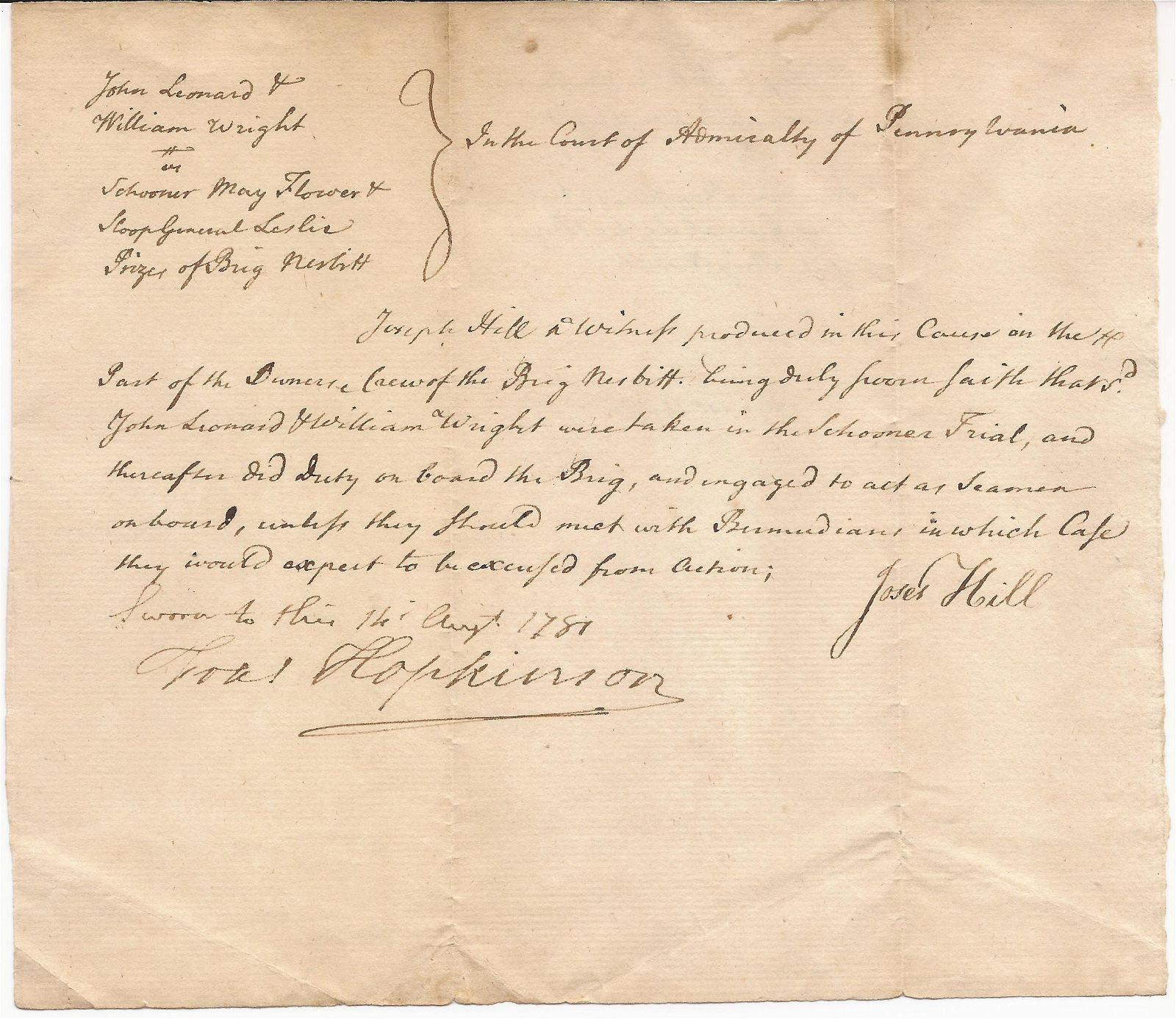 Declaration-Signer and U.S. Flag Designer Francis